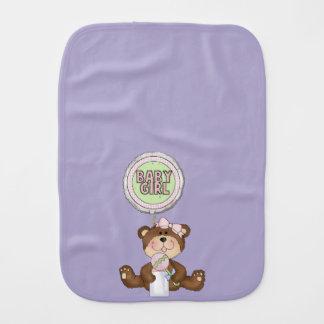 テディー・ベアの女の子の薄紫 バープクロス