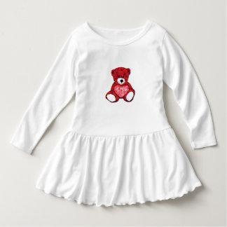 テディー・ベアの幼児のひだの服 ドレス