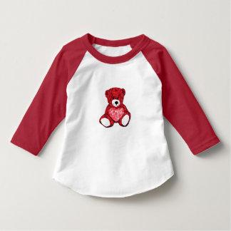テディー・ベアの幼児3/4の袖のRaglanのTシャツ Tシャツ