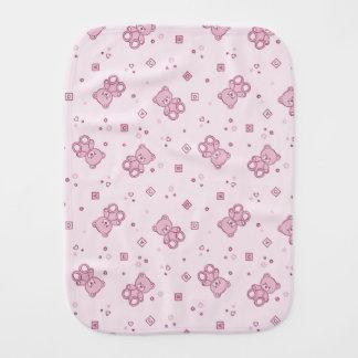 テディー・ベアの背景のピンク バープクロス