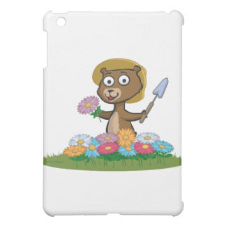 テディー・ベアの花の庭師 iPad MINI CASE