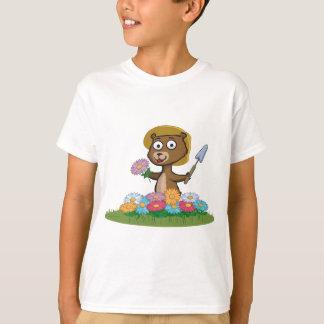 テディー・ベアの花の庭師 Tシャツ