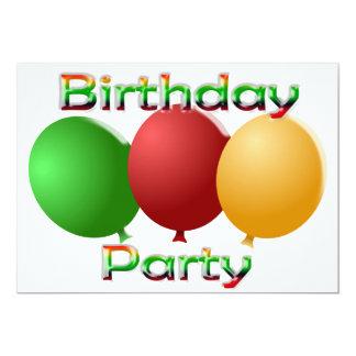 テディー・ベアの誕生日のパーティの招待状 カード