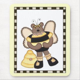 テディー・ベアの《昆虫》マルハナバチ マウスパッド