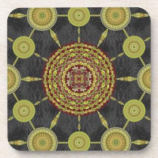 テディー・ベアのChollaのサボテンの曼荼羅の配列のコースター コースター