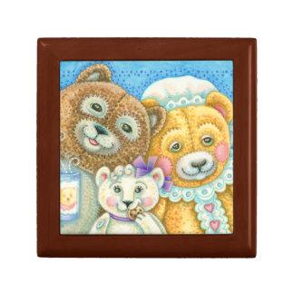 テディー・ベア家族のクマのタイルのギフトの宝石箱 ギフトボックス