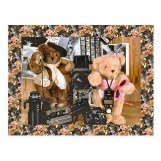 テディー・ベア、bearly bprofessionalのカメラマン ポストカード