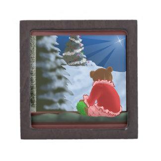 テディ-クリスマス箱 ギフトボックス