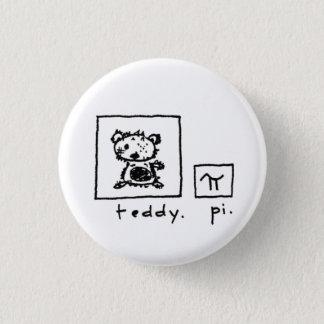 テディ + pi 3.2cm 丸型バッジ