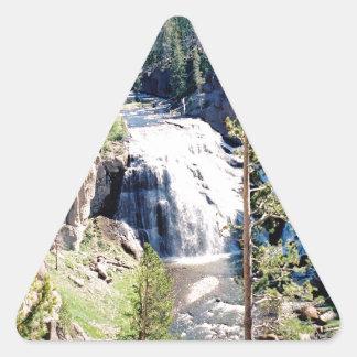 テナガザルの滝 三角形シール