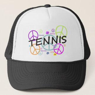 テニスによって着色されるピースサイン キャップ
