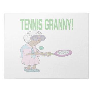 テニスのおばあさん ノートパッド
