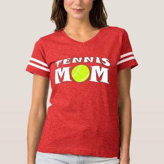 テニスのお母さんのカスタムなフットボールスタイルのジャージーのワイシャツ Tシャツ