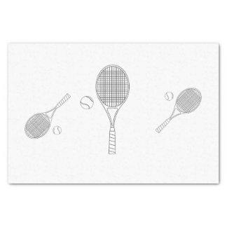 テニスのこうもりおよび球のティッシュペーパー 薄葉紙