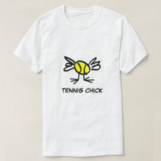 テニスのひよこレディーステニスの衣服 Tシャツ