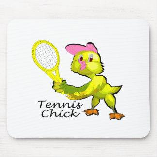 テニスのひよこ マウスパッド