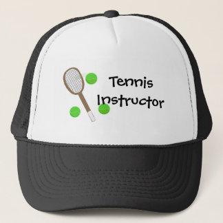 テニスのインストラクター キャップ