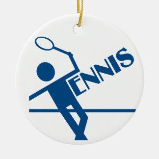 テニスのオーナメントは、カスタマイズ セラミックオーナメント