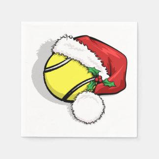 テニスのサンタの帽子 スタンダードカクテルナプキン