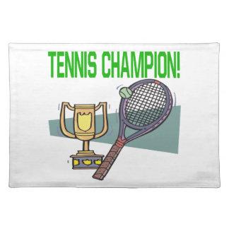 テニスのチャンピオン ランチョンマット