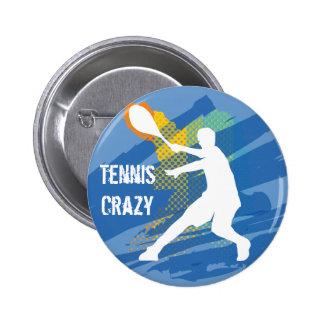 テニスのテニスのテニスのテニスのテニス 5.7CM 丸型バッジ