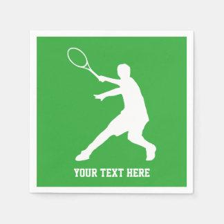 テニスのテーマのBBQまたは子供の誕生日のパーティのナプキン スタンダードカクテルナプキン