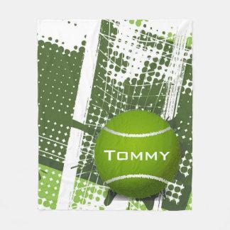 テニスのデザインのフリースブランケット フリースブランケット