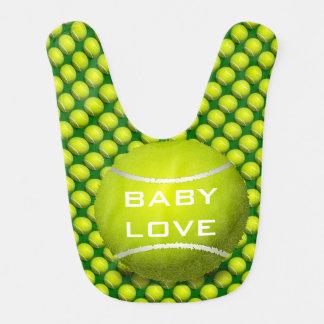 テニスのデザインのベビー用ビブ ベビービブ