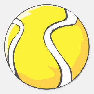 テニスのワイシャツ-クールなテニス・ボールのワイシャツ ラウンドシール