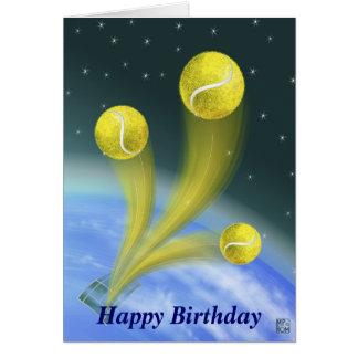 テニスの勝利のハッピーバースデー グリーティングカード