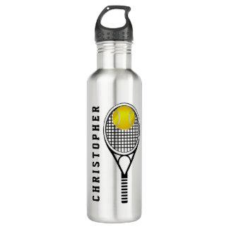 テニスの名前入りな名前かモノグラム ウォーターボトル