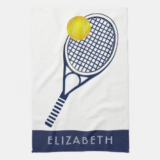 テニスの名前入りな名前かモノグラム キッチンタオル