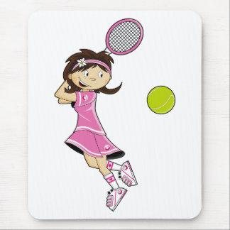 テニスの女の子のマウスパッド マウスパッド
