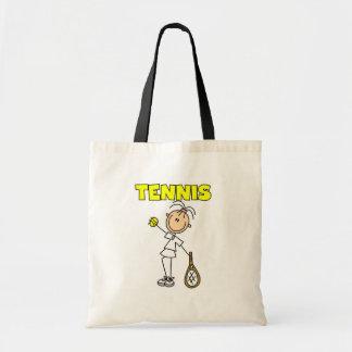 テニスの女の子のTシャツおよびギフト トートバッグ
