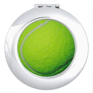 テニスの女性ファンのギフトのアイディアの写真のコンパクトの鏡