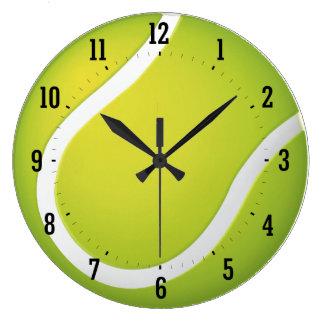 テニスの時間|スポーツのカッコいいのギフト ラージ壁時計