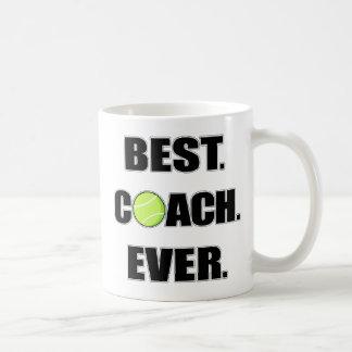 テニスの最も最高のなコーチ コーヒーマグカップ