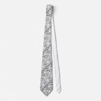 テニスの灰色のスタイリッシュなメンズ ネクタイ