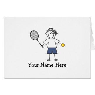 テニスの男の子のノート カード