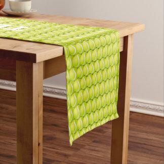 テニスの規則! クールな緑のスポーツのギフト ショートテーブルランナー