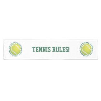 テニスの規則! 涼しいスポーツのギフト ショートテーブルランナー