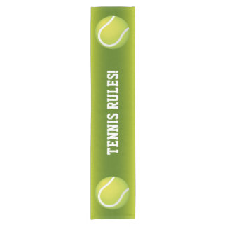 テニスの規則! 涼しい緑のスポーツのギフト ショートテーブルランナー