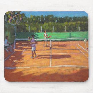 テニスは帽子のd'adgeフランス2013年を練習します マウスパッド