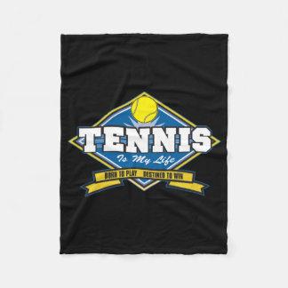 テニスは私の生命です フリースブランケット