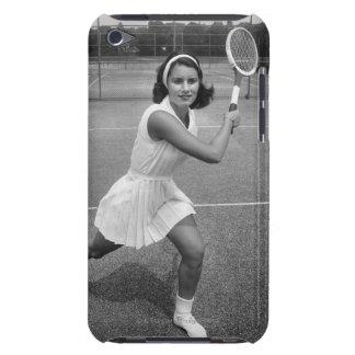 テニスを遊んでいる女性 Case-Mate iPod TOUCH ケース