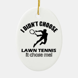 テニスを選びませんでした セラミックオーナメント