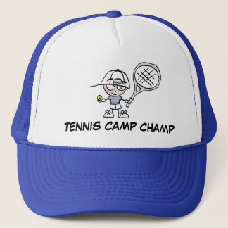 テニスキャンプのチャンピオンの帽子 キャップ