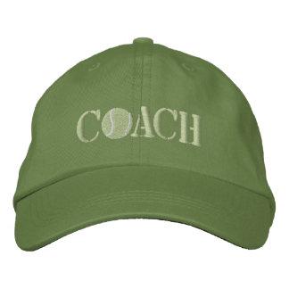 テニスコーチ 刺繍入りキャップ