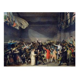 テニスコートの宣誓、1789年6月20日1791年 ポストカード
