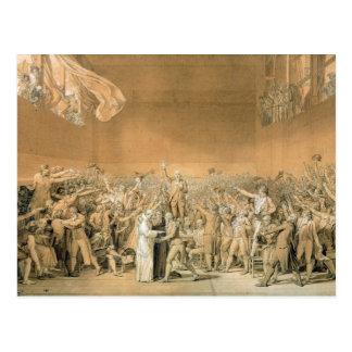 テニスコートの宣誓、1789年6月20日、1791 2 ポストカード